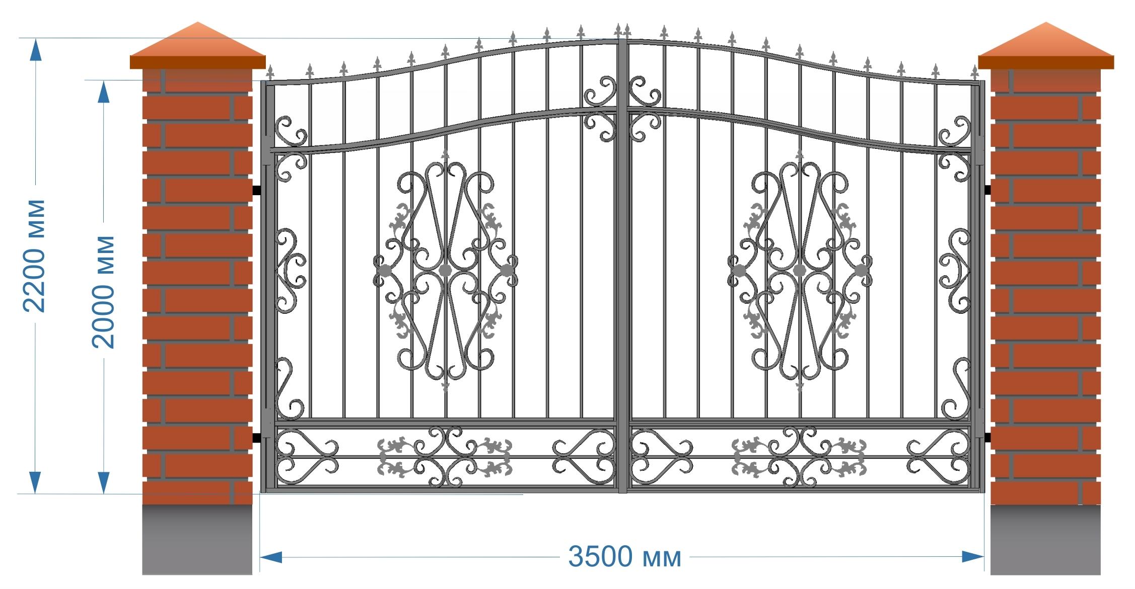 цены на распашные автоматические кованые ворота в городе казани