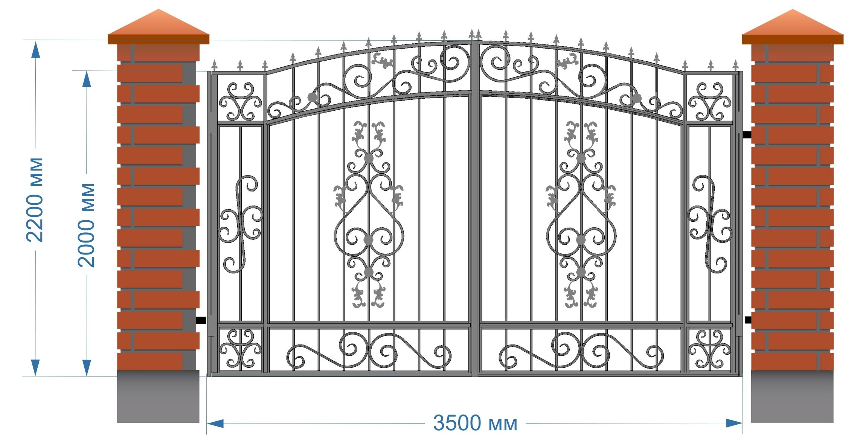 Ворота металлические распашные в казани чертежи на типовые откатные ворота для промпредприятий